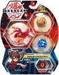 Bakugan Battle Planet - Pyrus Nillious - Комплект от 3 бойни топчета за игра -