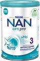 Висококачествена обогатена млечна напитка за малки деца - Nestle NAN OPTIPRO 3 HM-O - Метална кутия от 400 g и 800 g за след 12 месеца -