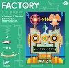 """Направи сам светеща картина - Киборг - Детски образователен комплект от серията """"Factory"""" -"""