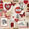 Салфетки за декупаж - Любовен билет - Пакет от 20 броя -