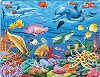 Коралов риф - Пъзел в картонена подложка -