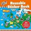 Galt: Карти - книжка със стикери за многократна употреба Maps - reusable sticker book -