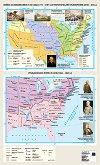 Стенна карта: Война за независимост на САЩ 1775 - 1787 г. и териториално разширение XVIII - XIX в. Гражданската война в САЩ 1861 - 1865 г. -