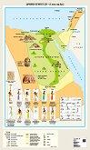 Стенна карта: Древен Египет ІV - IІ хил. пр. Хр. - карта