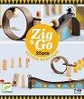 Детски дървен конструктор - Zig and Go - Комплект от 25 елемента -