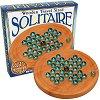 Солитер - Детска логическа игра със стъклени топчета -