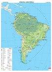 Стенна стопанска карта на Южна Америка - M 1:8 000 000 -