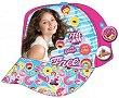 """Детска шапка - Комплект с 2 броя значки от серията """"Soy Luna"""" -"""