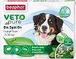 Beaphar Veto Pure Bio Spot On Dog - Репелентни капки за кучета от големи породи - опаковка от 3 пипети x 2 ml -
