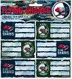 Етикети за тетрадки - Flying Sharks - Комплект от 18 броя -