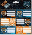 Етикети за тетрадки - Roar of the Tiger - Комплект от 18 броя -