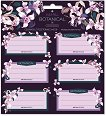 Етикети за тетрадки - Botanic Orchid - Комплект от 18 броя - книга