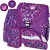 Ученическа раница - Ultralight Plus: Flowers - Комплект със спортна торба и 2 несесера -