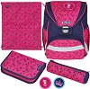 Ученическа раница - Ultralight Plus: Unicorn Stars - Комплект със спортна торба и 2 несесера -
