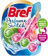 Тоалетно блокче - Bref Perfume Switch - Със сменящ се аромат на ябълка и лилия - опаковка от 1 брой x 50 g -