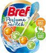 Тоалетно блокче - Bref Perfume Switch - Със сменящ се аромат на праскова и ябълка - опаковка от 1 брой x 50 g -