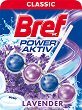 Тоалетно блокче - Bref Power Aktiv - С аромат на лавандула - опаковки от 1 и 3 броя -