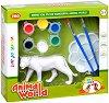 """Декорирай сам пластмасова фигура - Лъвица - Творчески комплект от серията """"Animal World"""" -"""