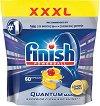 Таблетки за съдомиялна с аромат на лимон - Finish Quantum Max - Разфасовка от 60 броя -