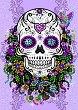 """Декорирай сама с пайети - Череп и цветя - Творчески комплект от серията """"Craft Teen"""" -"""