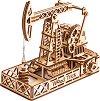 Сонда за нефт - Механичен 3D дървен пъзел -