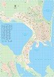 Стенна карта на Бургас - М 1:8500 -