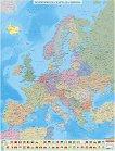 Политическа стенна карта на Европа - М 1: 4 000 000 -