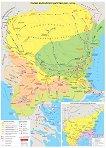 Стенна карта: Първо българско царство 681 - 1018 г. -