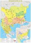 Стенна карта: Второ българско царство 1185 - 1396 -
