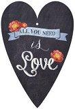 Поздравителна картичка - Love -