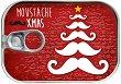 Картичка-консерва -  Moustache Xmas -