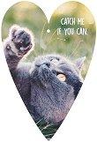 Поздравителна картичка - Котка -
