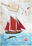 Поздравителна картичка - Best Wishes - картичка