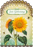 Поздравителна картичка - Слънчоглед -