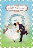 Поздравителна картичка - Just Married -