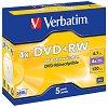 DVD+RW - 4.7 GB - 5 диска със скорост на записване до 4x -
