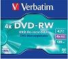 DVD-RW - 4.7 GB - 5 диска със скорост на записване до 4x -