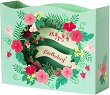 Поздравителна 3D картичка - Happy Birthday - картичка