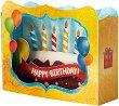 Поздравителна 3D картичка - Happy Birthday -