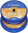DVD-R - 4.7 GB - 50 диска със скорост на записване до 16x -