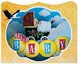 Поздравителна 3D картичка - Hello Baby -