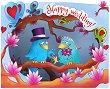 Поздравителна 3D картичка - Happy Wedding -
