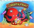 Поздравителна 3D картичка - Congratulations -