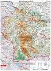 Общогеографска стенна карта на България: Югозападен район -