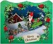 Поздравителна 3D картичка - Дядо Коледа - картичка