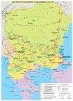 Стенна карта: България при княз Борис I и цар Симеон 852 - 927 -