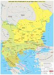 Стенна карта: България при управлението на цар Иван Асен II 1218 - 1241 -