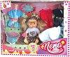"""Пишкаща кукла - Nena - Детска играчка с аксесоари от серията """"Bambolina"""" -"""