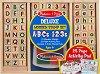 Английска азбука и цифри - Комплект дървени печати -