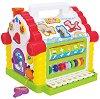 Сортер - Къщичка - Детска образователна играчка за сортиране :  със светлинни и звукови ефекти -